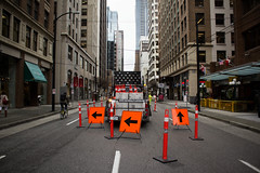 Detour (williecb750) Tags: city vancouver construction downtown
