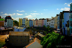 Tenby, Wales (Matthew Morris Photo's) Tags: new old city greatbritain blue windows summer vacation sky sun holiday west color colour beautiful sunshine wales clouds canon buildings landscape photography 50mm coast town seaside colorful cityscape village bright unitedkingdom roofs rows shade saturation coloring welsh colourful vignette pembrokeshire tenby colouring coastaltown lineofsight colouration