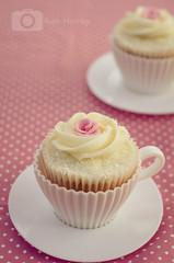 Turkish Delight Inspired Cupcakes (Ruthie H) Tags: pink cakes rose cupcakes baking lemon teacup turkishdelight buttercream