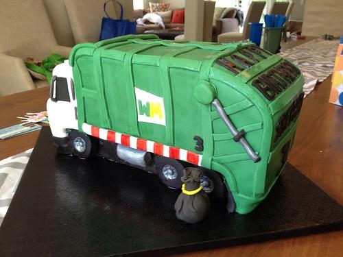 Surprising Garbage Truck Birthday Cake A Photo On Flickriver Funny Birthday Cards Online Amentibdeldamsfinfo