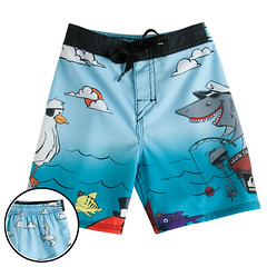 Quiks-K201988-Ltblue (Symic) Tags: blue fish bird water kids swimming studio photography shark cool seagull clothes shorts boardshorts portfolio product volcom axlscloset