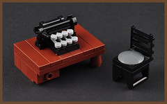 The Typewriter 2  Front (H. P. Lovecrafts Study) (Xenomurphy) Tags: summer typewriter lego gothic providence study cthulhu lovecraft horror fountainpen artifact author hplovecraft necronomicon moc oldones