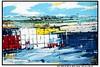 AUF DER ELBE III (CHRISTIAN DAMERIUS - KUNSTGALERIE HAMBURG) Tags: orange berlin rot silhouette modern strand deutschland see licht stillleben dock gesicht meer wasser foto fenster räume hamburg herbst felder wolken haus technik blumen porträt menschen container gelb stadt grün blau ufer hafen fluss landungsbrücken wald nordsee bäume ostsee schatten spiegelung schwarz elbe horizont bilder schiffe ausstellung 2012 schleswigholstein figuren frühling landschaften dunkelheit wellen häuser kräne rapsfelder fläche acrylbilder hamburgermichel realistisch 2013 nordart acrylmalerei expressionistisch acrylgemälde auftragsmalerei auftragsbilder kunstausschreibungen kunstwettbewerbe galerienhamburg