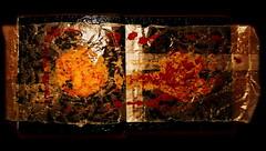 From the Marzipan Cruller - 3 (hedbavny) Tags: vienna wien city light red abstract black rot art buch austria book licht sterreich klein diptych kunst nougat mini collection pastry marzipan abstraction verpackung impression schwarz collecting 84 seite 2526 miniatur sammeln sammlung tte diptychon innerestadt falte confiserie ocker aufgerissen verknittert papiertte mehlspeise faltig abdruck krapfen sackerl impressio doppelseite nachbildung karminrot zerknittert aufgeschlagen 1010wien collectingmania bognergasse papiersackerl hedbavny krapfensammlung linoldruckfarbe ingridhedbavny crullercollection donutcollection bookofimprints nougatoberscreme marzipankrapfen cityconfiserie cityconfiseriebognergasse krapfen84 impressiomarzipankrapfen 1832013
