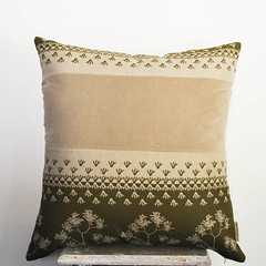 Pieced-fabric Cushion 60cm x 60cm :: hand printed eco fabric (stilelemente) Tags: designer handmade velvet patchwork artisan hemp ecofriendly handprinted kangaroopaw screenprinted australiannativeflora piecedfabric ecofabric ecotextiles gabriellatagliapietra stilelemente oganiccotton