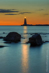 Frankfort Light ... 4-2-13 (Ken Scott) Tags: longexposure light sunset usa march spring twilight rocks michigan hdr frankfort reflectedlight benziecounty 2013