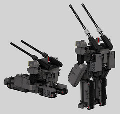 D50C Loto Rear View (OrangeKNight) Tags: anime mobile century tank lego bell tracks manga special suit uc gundam unicorn ova mecha forces loto londo mech mackle transformable 0096 esfs universla daguza