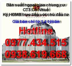 Mua bán nhà  Từ Liêm, Chung cư CT3 Cổ Nhuế, Chính chủ, Giá 22 Triệu/m2, Chị Kiều Anh, ĐT 0938619668 / 0983903338