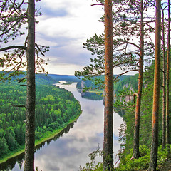 calmness (Sergey S Ponomarev) Tags: nature water clouds forest reflections landscape rocks russia outdoor ngc rivers sanyo adventures urals vishera