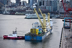 Bertha ship docks at the Port of Seattle (WSDOT) Tags: docks machine tunnel boring 99 sr gp berth portofseattle