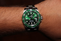 Green (goldtrout) Tags: green watch mens rolex submariner luna16