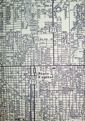 Oklahoma City, OK  (July 1961) (davecito) Tags: oklahoma midwest map ephemera planning transportation cartography 1960s ok oklahomacity roadmap urbanplanning drafting greatplains streetmap citymap oldmap capitalcities mapco vintagemap highwaymap largestcities