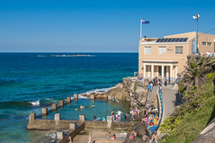 140413_0069 (amblerpix) Tags: blue beach clouds swimming fun surf day sunny australia bluesky newsouthwales swimmers tasmansea crowds sunbathing coogee lifeguards surfrescue autumnday coogeeslcclubhouse