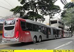 7 3824 - VIP unidade Guarapiranga (Emerson F.C.®) Tags: bus mercedesbenz ônibus articulated brt articulado induscar