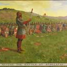 """<b>St. Olav and His Men Before the Battle of Stiklestad</b><br/> Biorn, #192, Oil, Painting<a href=""""http://farm9.static.flickr.com/8528/8651830633_0ca71ec974_o.jpg"""" title=""""High res"""">∝</a>"""