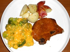 Pork Chop Dinner (Mr. Ducke) Tags: potatoes porkchop broccoliandcheese
