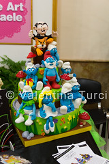 cake design week (Christie_Road_Photos) Tags: italy art colors cake design italia pasta sugar di evento napoli naples week tamron smurfs torta fiera zucchero puffi 1750mm exp canoneos550d