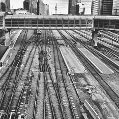 Incoming (red_dotdesign) Tags: bw toronto train tracks trainstation