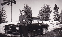 Sweden 60s (annkarlstedt) Tags: old white black car vintage suomi finland photo 60s foto fifties swedish 1950s scanned bil 50s sverige 1960s 50 seventies 60 1950 tal svensk 1960 fotografi gammalt svartvitt skannat