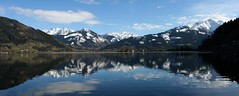 Panorama - Zell am See (to.gian) Tags: panorama lake mountains reflection austria bluesky zellamsee togian hohetauernmountainrange