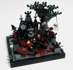 Bat in the Graveyard (Julius No) Tags: graveyard robin bury lego vampire scarecrow bat batman hearse