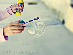 Soap bubble (Marl1) Tags: hands fuji soapbubble myphotoshopactions