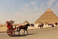 Giza (comradavid) Tags: horse carriage desert pyramid egypt cairo giza khufu