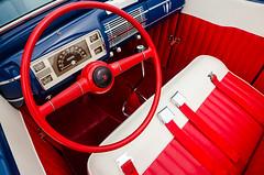 Bright 'n basic (GmanViz) Tags: color detail ford car 1931 nikon automobile interior seat dashboard steeringwheel shifter seatbelts roadster gmanviz d7000 goodguysppgnationals