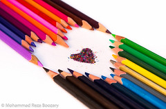 Colored Pencil (Mohammad Reza Boozary) Tags: colorful colory color colored pencils heart love pentax pentaxk50 pentaxart pentaxda1855alwr iran iranian persian