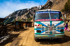 Slow Drive Long Life (aaron.beitzel) Tags: road travel nepal bus canon vintage village tata bumpy transportation 5d remote 24mm adidas luxury rara mugu