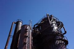 Gasworks (panfriedcharlie) Tags: rustymetal seattle gasworkspark