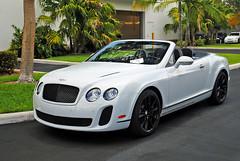 Bentley Continental GT Convertible (Infinity & Beyond Photography) Tags: bentley continental gt convertible gtc white exotic car auto supercar