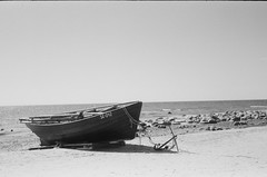 001566650004 (putjka) Tags: kiev4 analog film filmphotography kodak tmax100 bw retro boat latvia