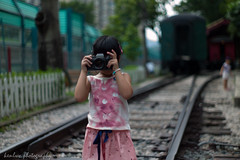 girl with contax S2b (~kenlwc (time to rethink, will catch up slowly....) Tags: contax s2b contaxs2b leica leicam9p m9p summilux50mmpreasph 50mm color bokeh train hong kong hongkong hk travel kid child girl camera kenlwc kenleung