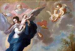 Cabrera, The Virgin of the Apocalypse, 1760 (detail) (profzucker) Tags: miguelcabrera the virgin apocalypse 1760 munal mexicocity painting art mexico newspain baroque cabrera cabreraapocalypse