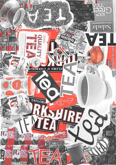 Tea (KatieBrennan95) Tags: tea red collage graphic
