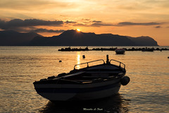 .. ed  subito sera... (M@Riforever) Tags: mare tramonto aspra palermo barca