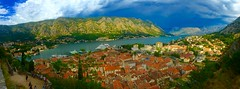 Bay of Kotor Montenegro (swkphoto) Tags: kotor bay montenegro water ships boats clouds storm mountains old town unesco