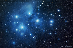 The Pleiades (M45) (Martin_Heigan) Tags: pleiades m45 sevensisters openstarcluster astronomy astrophysics astrograph telescope newtonian martin heigan astrophotography reflector celestron avx nebula color colour deepsky dso space science physics canon 60da mhastrophoto september2016 wrac msp reflectionnebula stars deepskyobject messier45 messierobject southernhemisphere amateurastronomy astroimaging pixinsight pi mainsequencegeneratorpro sgp nightsky observing blue astrometrydotnet:id=nova1724958 astrometrydotnet:status=solved ngc1435 ngc1432 ic1990 ic349