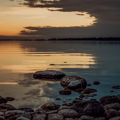 Lake Vanern (*hassedanne*) Tags: vnern otterbcken sweden lake sunset