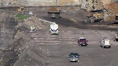 Filling Blast Holes (Video) (Photons of Days Past) Tags: cabinrunroad surfacecoalmine alleganycounty maryland frostburg canoneos6d ef70300mmf456isusm cat caterpillar blast drill rock video