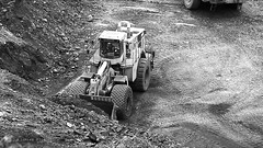 BW CATs (Video) (Photons of Days Past) Tags: cabinrunroad surfacecoalmine alleganycounty maryland frostburg canoneos6d ef70300mmf456isusm cat caterpillar video
