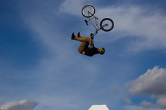 Ride to the sky (Choc') Tags: fise world bmx bmxfreestylepark freestyle biker rider sky canon60d canon sport extreme professional athelete canada edmonton alberta