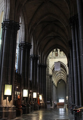 Lille Cathedral Ambulatory (Lawrence OP) Tags: lille cathedral arches ambulatory neogothic
