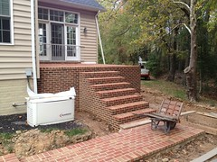 construction (20) (The Sharper Cut Landscapes) Tags: brick walkway steps patio thesharpercutlandscapes thesharpercut landscapedesign landscaping landscapelighting