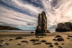 The Sea Stacks of Garry Beach (Impact Imagz) Tags: garrybeach tolsta northtolsta isleoflewis westernisles outerhebrides beach traighgheiradha sand stone sea seashore seascapes bluesky clouds cloudscapes seastack