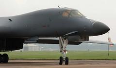 Crooked Bone (crusader752) Tags: usaf b1b lancer bone 850089dy 7thbw raffairford jet bomber aircraft strategic heavy windsock canard targetingpod sniperxr lantirnii usairforce