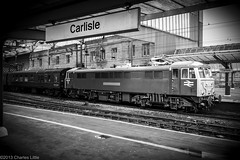 A Blast From The Past (Charlie Little) Tags: bw citadel samsung trains cumbria locomotive railways carlisle nx class86 carlislestation 86101 cumbrianmountainexpress
