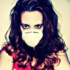 "41/365. ""I'm still breathing, it's just a bit stifled."" SK~ (Manhattan Girl) Tags: selfportrait me hair eyes mask redhead 41365"