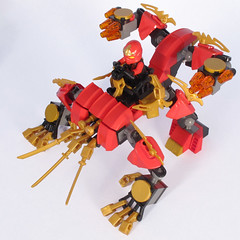 Kai's Fire - Quad Walker #3 (Bricksky) Tags: red fire quad walker mech moc ninjago